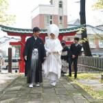 神社にて挙式!